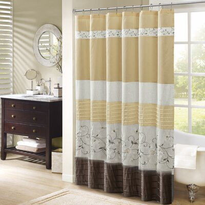 Cyprien Embroidered Shower Curtain