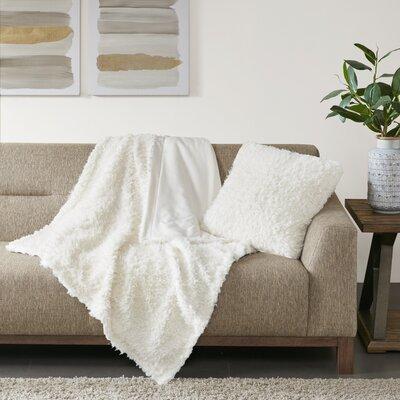 Reitz Throw Pillow Color: Ivory