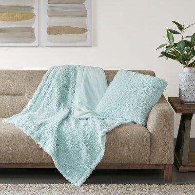 Reitz Throw Pillow Color: Blue
