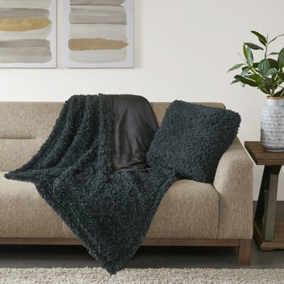 Reitz Throw Pillow Color: Black