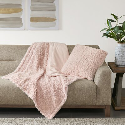 Reitz Throw Pillow Color: Blush