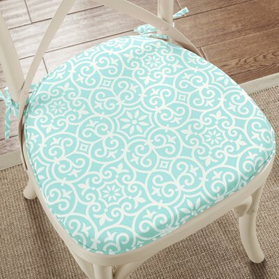 3M Scotchgard Indoor/Outdoor Dining Chair Cushion Color: Aqua ANDV2877 43190954