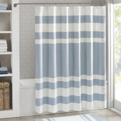 Malory Shower Curtain Size: 72 W x 96 H, Color: Light Blue