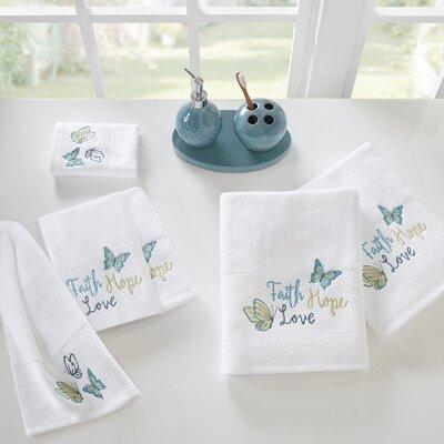 Faith, Hope, Love Embroidered 6 Piece Towel Set