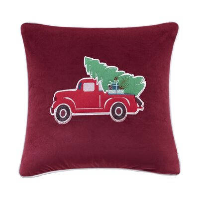 Hannah Holiday Delivery Embroidered Throw Pillow