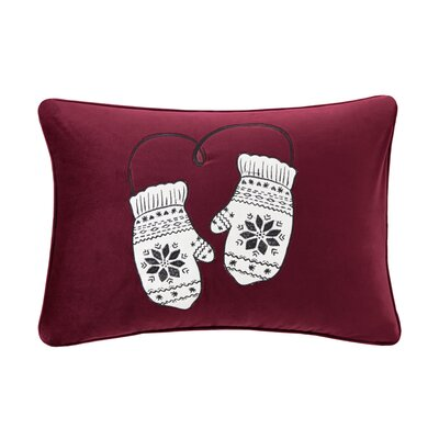 Vandyne Sweet Holiday Mittens Embroidered Lumbar Pillow