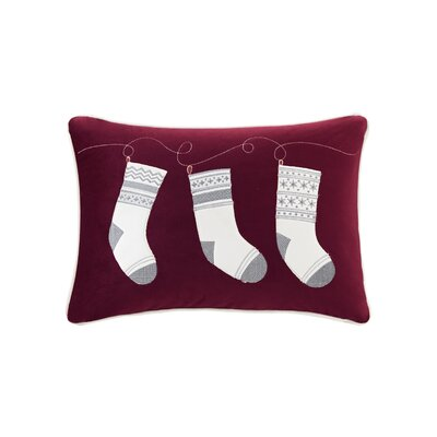 Vandyne Holiday Stocking Surprise Embroidered Lumbar Pillow