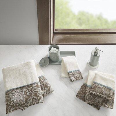 Pokanoket Cotton Jacquard 6 Piece Towel Set Color: Blue