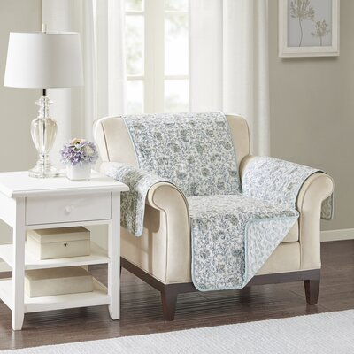 Floral Cotton Printed Reversible Box Cushion Armchair Slipcover