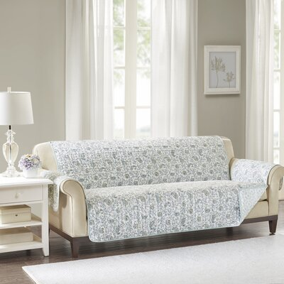 Floral Cotton Printed Reversible Box Cushion Sofa Slipcover