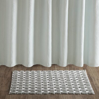 Mcnew Dot Cotton Woven Rug Color: Gray, Size: 27W x 45L