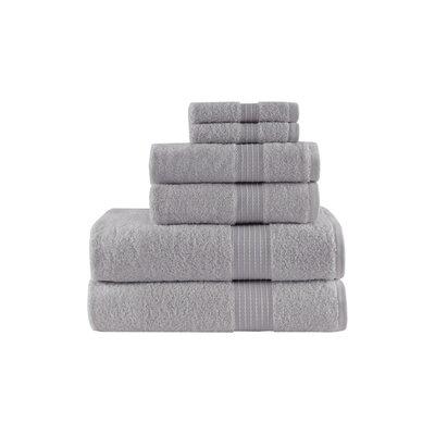 Jeremie Organic 6 Piece Towel Set Color: Grey