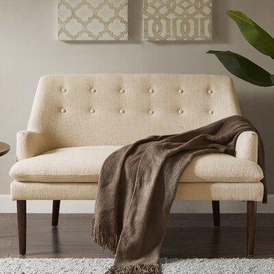 Perez Settee Upholstery: Cream