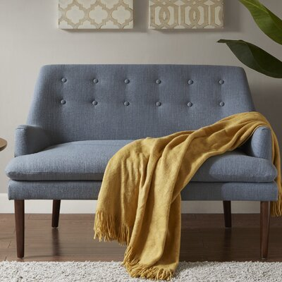 Perez Settee Upholstery: Blue