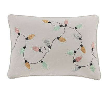 Vandyne Jolly Lights Embroidered Lumbar Pillow
