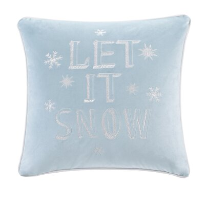 Vandyne Let It Snow Embroidered Throw Pillow