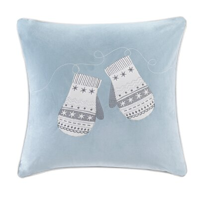 Vandyne Winter Snow Mittens Embroidered Throw Pillow
