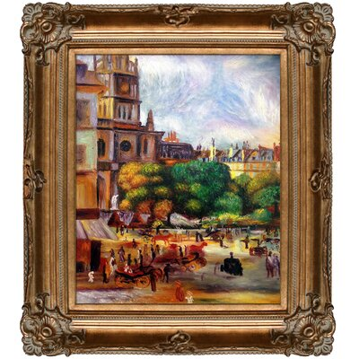 Church of the Holy Trinity in Paris by Pierre-Auguste Renoir Framed Painting Print RN5696-FR-801G20X24