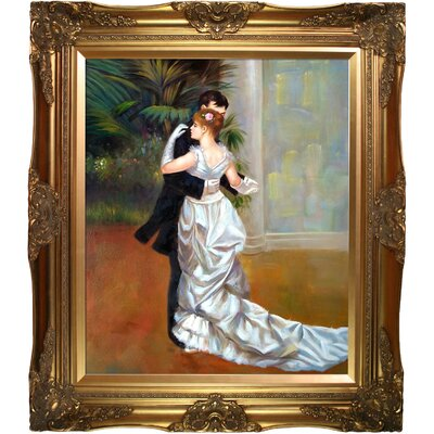 Dance in The City by Renoir Framed Painting Print on Canvas RN831-FR-6996G20X24