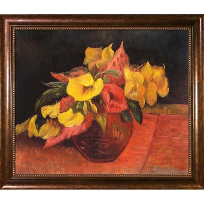 'Evening Primroses in the Vase, 1885' by Paul Gauguin Framed Painting Print GG6674-FR-930120X24