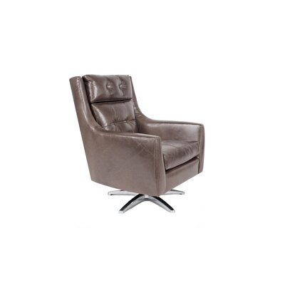 Roosevelt Swivel Armchair Color: Charcoal