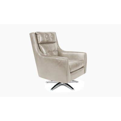 Roosevelt Swivel Armchair Color: Ivory