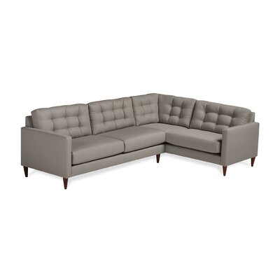 Harvard Sectional Upholstery: Earth, Orientation: Right Hand Facing