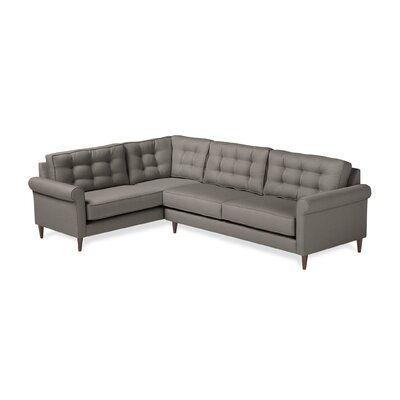 Jackie Sectional Upholstery: Earth, Orientation: Left Hand Facing