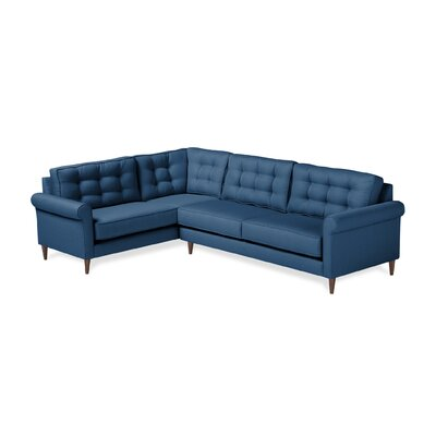 Jackie Sectional Orientation: Left Hand Facing, Upholstery: Navy