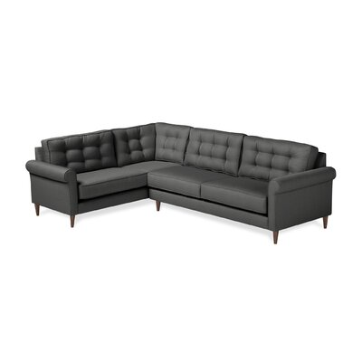 Jackie Sectional Upholstery: Charcoal, Orientation: Right Hand Facing