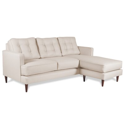 Dana Chaise Reversible Sectional Upholstery: Ivory