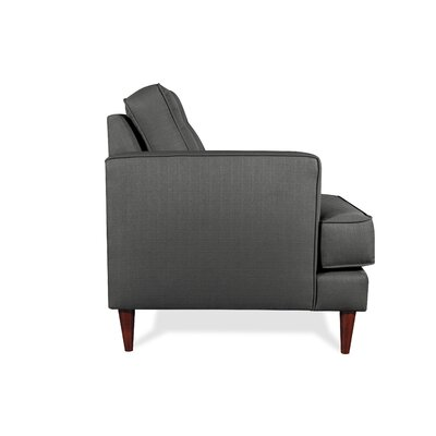 Dana Reversible Chaise Sectional Upholstery: Smoke