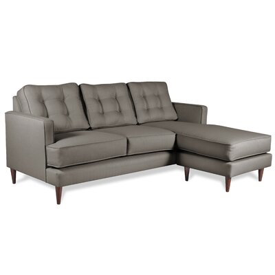 Dana Chaise Reversible Sectional Upholstery: Earth