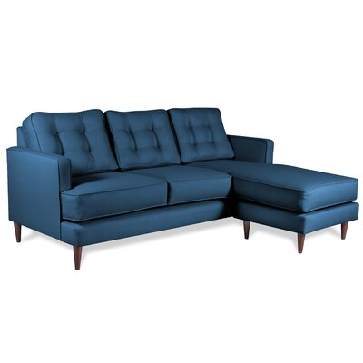 Dana Reversible Chaise Sectional Upholstery: Navy