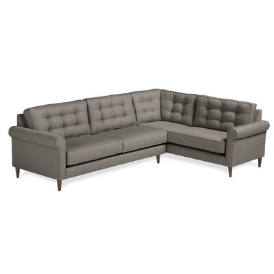 Harvard Sectional Upholstery: Charcoal, Orientation: Right Hand Facing