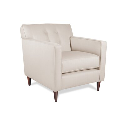 Manhattan Armchair Upholstery: Ivory