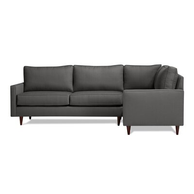 Hope Sectional Upholstery: Charcoal, Orientation: Right Hand Facing