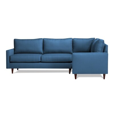 Hope Sectional Upholstery: Navy, Orientation: Right Hand Facing