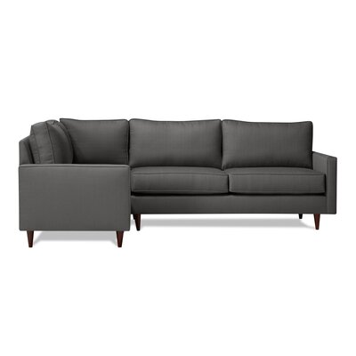 Hope Sectional Upholstery: Charcoal, Orientation: Left Hand Facing