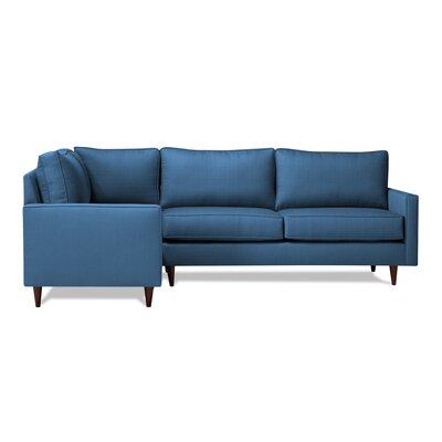 Hope Sectional Orientation: Left Hand Facing, Upholstery: Navy