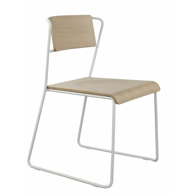Lockwood Side Chair Finish: White / Natural Ash