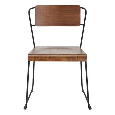 Lockwood Side Chair Finish: Black / Walnut