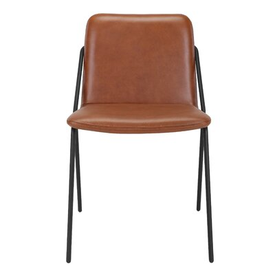 Sling Eco Leather Upholstered Dining Chair Upholstery: Brown