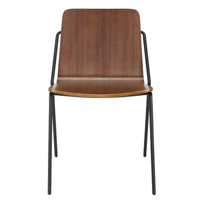 Sling Dining Chair Finish: Black / Walnut