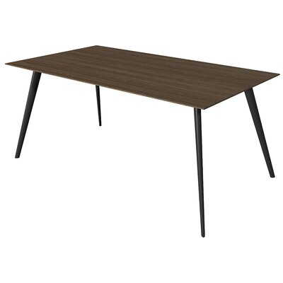 Airfoil Dining Table Base Finish: Black, Top Finish: American Walnut