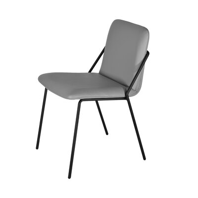 Sling Eco Leather Upholstered Dining Chair Upholstery: Grey