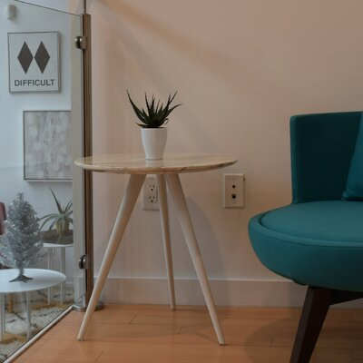 Airfoil End Table Color: White Powder Coated