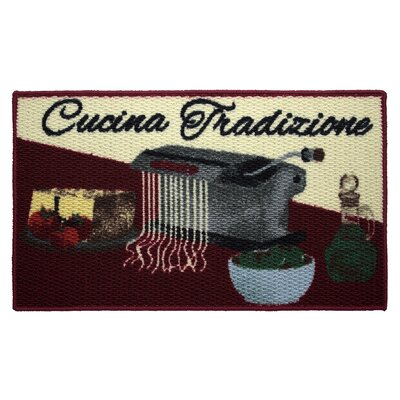 Textured Loop Cucina Tradizone Kitchen Area Rug Rug Size: 16 x 26