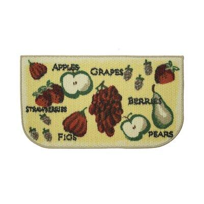 Textured Loop Tossed Fruits Kitchen Area Rug