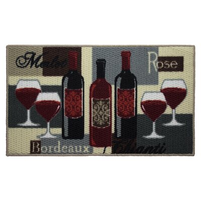 Textured Loop Wine Time Kitchen Area Rug Rug Size: Rectangle 16 x 26